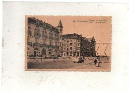 Coxyde-les-Bains Ou Koksijde-bad (Belgique, Flandre Occidentale) :  Les Grands Hôtels Avec 4 CV Renault En 1954(animé PF - Koksijde