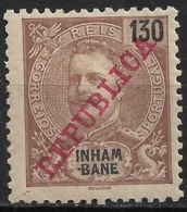 Inhambane – 1911 King Carlos Overprinted REPUBLICA 130 Réis Mint Stamp - Inhambane