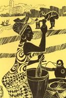 Abidjan Hôtel Ivoire Illustration La Pileuse De Foutou - Ivory Coast