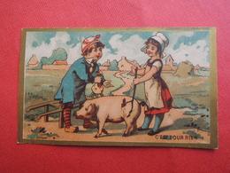 CHROMO  Imp: LAAS. Vente D'un Cochon. Fermière. Bourse.  C'est Pour Rien - Unclassified