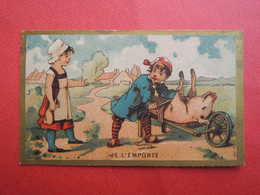 CHROMO  Imp: LAAS. Vente D'un Cochon. Fermière. Brouette.  Je L'emporte - Unclassified