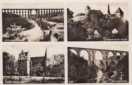 AK Gruss Aus Dem Vogtland - Göltzschtalbrücke Kaierschloss Mylau Schloss Netzschkau Elstertalbrücke - 1933 (50286) - Vogtland