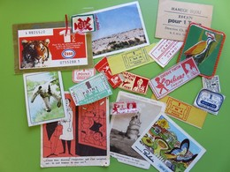 247 - Chèque Tintin (Délices - Poulain) - Point IMA Vache Grosjean - Philbée - Bon-timbre Cémoi - Tigre Esso - Picon - Other