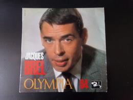 """Disque 25 Cm Jacques Brel """" Olympia 64 8 Titres """" - Formats Spéciaux"""