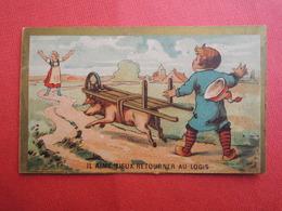 CHROMO  Imp: LAAS. Vente D'un Cochon. Fermière. Brouette. Acheteur  Normand. Normandie. Il Aime Mieux Reourner Au Logis. - Unclassified