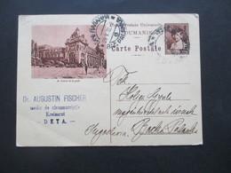 1932 Bildpostkarte Ganzsache Le Palais De La Poste Stempel Dr. Augustin Fischer Medic De Circumscritie Kreisarzt Deta - Covers & Documents