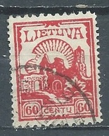 Lituanie YT N°180 Ruines Du Chateau De Kaunas Oblitéré ° - Litauen