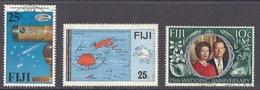 Fiji - Comet, Halley's Comet, Telescope, Space, Viti Levu, Vanua Levu Map, 25th Wedding Anniversary - Used - Fiji (1970-...)