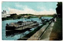 Ref 1362 - 1911 Postcard - Steamer At Trent Bridge Nottingham - Nottingham