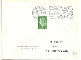 RHONE - Dépt N° 69 = LYON TERREAUX (1er ARR)  1971 = FLAMME à DROITE = SECAP Illustrée ' ESPERANTO / 63e CONGRES ' - Esperanto
