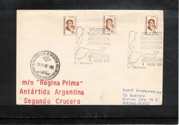 Argentina 1975 Turistic Cruises In Antarctica Ship Regina Prima Interesting Cover - Polare Shiffe & Eisbrecher