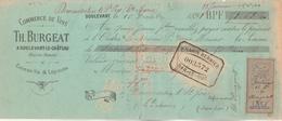 Lettre Change 15/12/1891 BURGEAT  Vins Liqueurs Eaux De Vie  DOULEVANT Haute Marne Pour Dommartin Le Saint Père - Bills Of Exchange