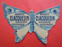 Chromo Chambrelent. Publicité Apéritif Clacquesin Goudron Hygiénique Forme Papillon Insecte Aile Corps - Unclassified