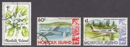 Norfolk - Flowers, Myoporum Obscurum, Airplanes, Avions, Avro 691, Super King Air - Used - Norfolk Island