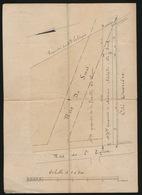 GENT GAND - 1883 OPMETING  RUE DE SMET / RUE DE L'EGLISE - 4 SCANS TUSSEN Mlle LEBEQUE & MAD. ADOLPHE DE SMET  _ ADEL - Obras Públicas