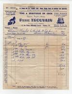 Facture + Congé Du Registre Trouvain Rue Coligny Montargis 1954 - Alimentare