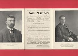 """Livret Triptyque """"Nos Maîtres"""" N°75 (1913) Deschiens -Pr Combe De Lausanne / Dr Gosset -  Médical - Médecine - 1900 - 1949"""