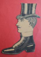 Chromo En Forme De Chaussure. Homme Avec Chapeau Haut De Forme. PARIS - FAUBOURG. Charles Haeusler - Unclassified