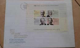 2012 - LIECHTENSTEIN - FDC - FOGLIETTO - FDC