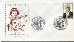 """FRANCE ENVELOPPE ILLUSTREE """"CHARLES DE GAULLE 1890-1970"""" AVEC OBL. ILLUSTREE MAISONS-ALFORT 17 NOV. 1990 - De Gaulle (General)"""