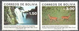 Bolivia - National Park - Waterfall - Antelope - MNH - Briefmarken