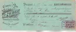 Lettre Change 22/6/1894 BURGEAT  Vins Liqueurs Eaux De Vie  DOULEVANT Haute Marne Pour Instituteur à Instituteur - Bills Of Exchange