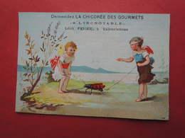 Joli CHROMO  Imp. Laas. Chicorée Des Gourmets. Léon Pisier à Valenciennes. Anges. Angelots. Insecte. - Unclassified