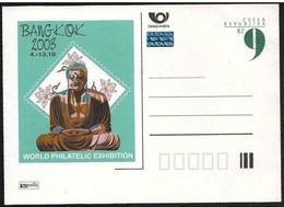 Repubblica Ceca/Czech Republic/République Tchèque: Intero, Stationery, Entier, Statua Di Buddha, Buddha Statue - Buddhism