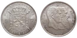 1 Franc 1880 (Belgium) Silver - 1865-1909: Leopold II