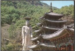 Corea/Korea/Corée: Intero, Stationery, Entier, Tempio Buddista, Buddhist Temple, Temple Bouddhiste - Buddhism