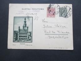 Polen 1933 Bildpostkarte Ganzsache P 50 Mit Zusatzfrankatur Krakau Nach Backa Palanka Jugoslawien Gesendet - 1919-1939 République