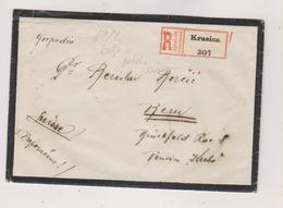 CROATIA HUNGARY KRASICA 1918 Registered Cover To Switzerland - Croazia