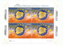 ESPAÑA-FRANCIA-ANDORRA. Consejo De Europa.,emisión Conjunto. Bloc-Feuillet / Hojita  Neuf ** Nuevo 2019 - Unused Stamps
