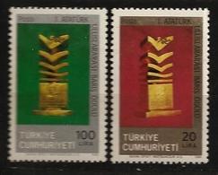 Turquie 1986 N° 2496 / 7 ** Prix International Pour La Paix, Atatürk, Trophée, Mendela, Kurdes, Plaquette Offerte - 1921-... Republic