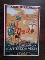 L27/1396 CAYEUX SUR MER . Chemin De Fer Du Nord. Repro Affiche Ancienne - Cayeux Sur Mer
