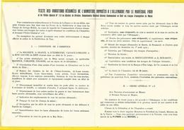 Maroc Taza Texte De L'Armistice Mal Foch 1918 - 1914-18