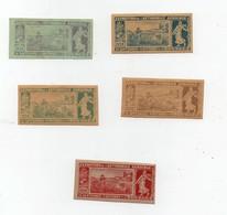 Erinnophilie Vignette Exposition De L'automobile Agricole 14 Septembre - 4 Octobre 1908 (5 Vignettes) - Erinnophilie