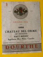 14280 -  Château Bel Orme 1959 Haut-Médoc - Bordeaux