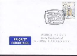 Austria Priority PRIORITAIRE Label CHRISTKINDL 6.1.2007 Cover Brief POESSSNECK Pößneck Germany - 1945-.... 2. Republik