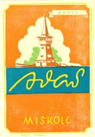 "Hotelaufkleber Etiquette Pour Valise "" Hongrie Miskolc Hotel Avas "" Luggage Label Adesivi Per Hotel - Adesivi Di Alberghi"