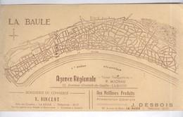 Buvard  La Baule - Boucherie Vincent - Alimentation Desbois - Agence Micheau - Bon état - Carte Assorbenti