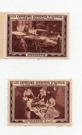 Erinnophilie Vignette Les Orphelins Apprentis D'Auteuil Confiserie Imprimerie (2 Vignettes) - Cinderellas