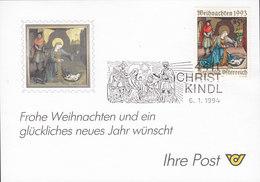 Austria CHRISTKINDL 6.1.1994 Card Karte - 1945-.... 2. Republik