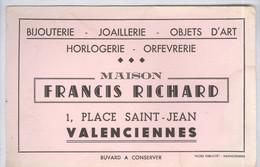 Buvard  Boucherie Richard - 1 Place St Jean - Valenciennes - Taches D'humidité - Blotters