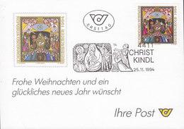 Austria Ersttag CHRISTKINDL 25.11.1994 Card Karte - 1945-.... 2. Republik