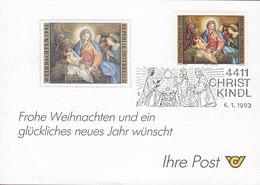 Austria CHRISTKINDL 6.1.1993 Card Karte - 1945-.... 2. Republik