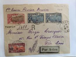 Poste Aérienne  Première Liaison Réunion Ile Maurice 2 Novembre 1933  L1 - Lettres & Documents