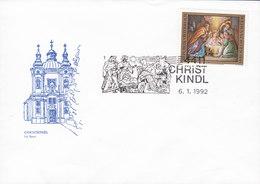 Austria Christkindl Bei Steyr Cachet CHRISTKINDL 6.1.1992 Cover Brief Blanco - 1945-.... 2. Republik