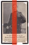 BIDPRENT - JEAN CLEMENT TACHELET  - MIELEN BOVEN AALST GINGELOM 1895 - GESNEUVELD DIXMUIDE 1915- ONDEROFFICIER 2E JAGERS - Militaria