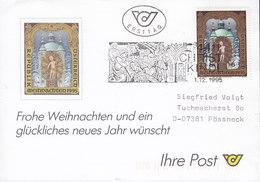 Austria Ersttag CHRISTKINDL 1.12.1995 Card Karte POESSNECK Pößneck Germany - 1945-.... 2. Republik